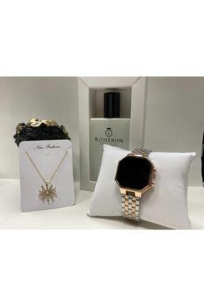 Exception Led Watch Çelik Kasa Kadın Kol Saati + Parfüm