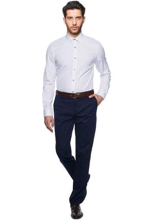 ALTINYILDIZ CLASSICS Erkek Beyaz-gri Tailored Slim Fit Baskılı Gömlek