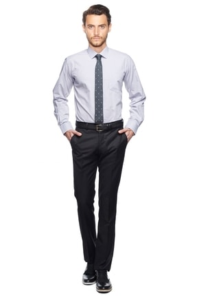 ALTINYILDIZ CLASSICS Erkek Gri Regular Fit Klasik Gömlek
