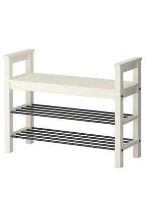 IKEA Hemnes Bank Ve Ayakkabılık Beyaz, 85x32 Cm