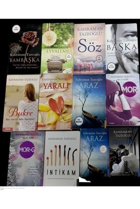 Destek Yayınları Kahraman Tazeoğlu 16 Kitap Set Bukre-eyvallah-başka-bambaşka-yaralı-mor-intikam-araz-söz