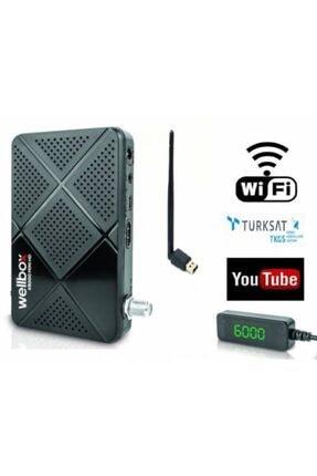 ATAELEKTRONİK Wellbox X5000 Çanaksız Uydu Alıcısı + Youtube + Tkgs + Ecast + Antenli Wifi