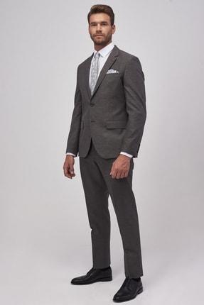 ALTINYILDIZ CLASSICS ERKEK Antrasit Regular Fit Desenli Nano Takım Elbise