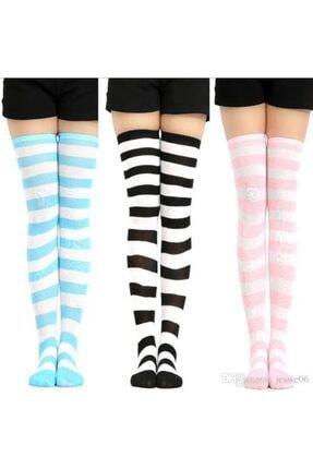 Çoraphane Diz Üstü Çemberli Çorap 3 Çift