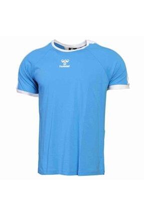 HUMMEL Erkek Mavi Jack Kısa Kollu Tişört