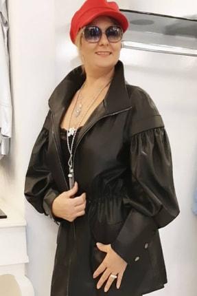 Nocturne Kadın Siyah Deri Ceket