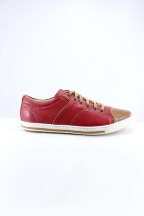 İnci Kadın  Deri Bordo Sneaker