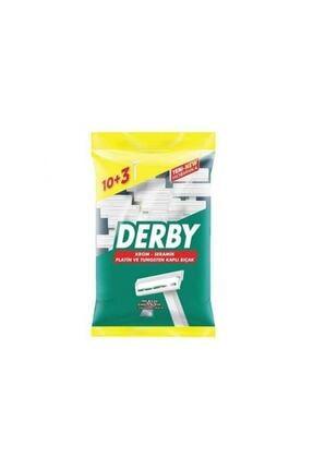 Derby Tek Tıraş Bıçağı Poşet 10 + 3 Hediye
