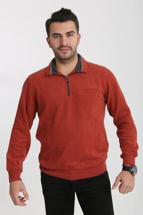 Pierre Cardin Kiremit Yarım Fermuar Erkek Sweatshirt