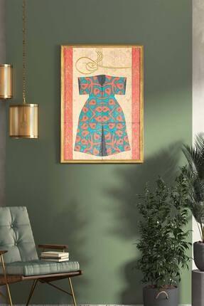 bluecape Mavi Şehzade Kaftanı Temalı Antik Limra Taş Özel Baskı Duvar Salon Ofis Mutfak Yatak Odası Tablo