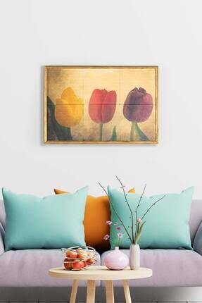 bluecape Ottoman Tulipa Antik Limra Taş Özel Baskı Duvar Salon Mutfak Ofis Yatak Odası Tablo