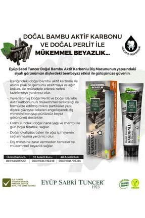 Eyüp Sabri Tuncer Doğal Bambu Aktif Karbonlu Diş Macunu 75 Ml ( Diş Fırçası Hediyeli )
