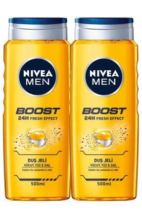 Nivea Nıvea Men Boost Erkek Duş Jeli 500 Ml X2