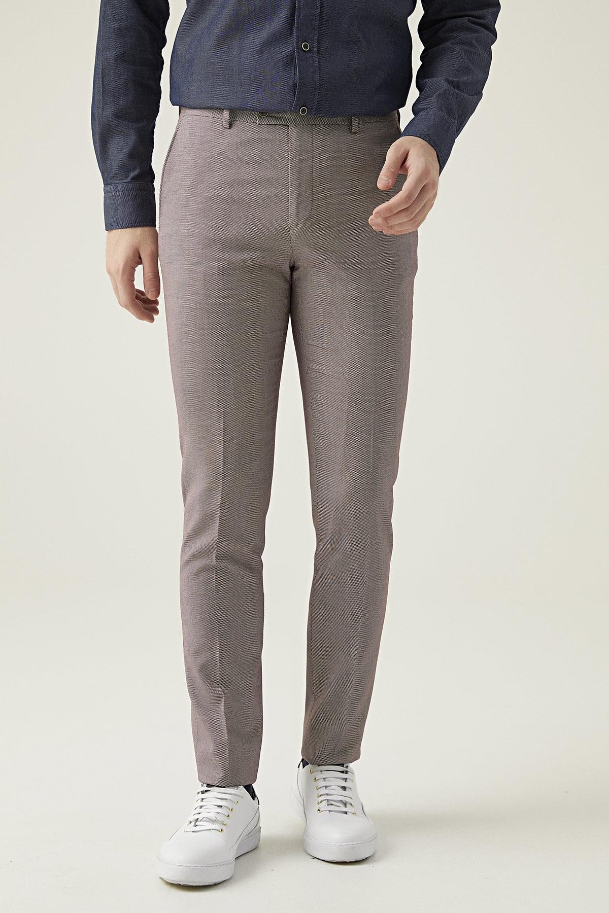 Twn Bordo Renk Erkek  Pantolon (Slim Fit) 2