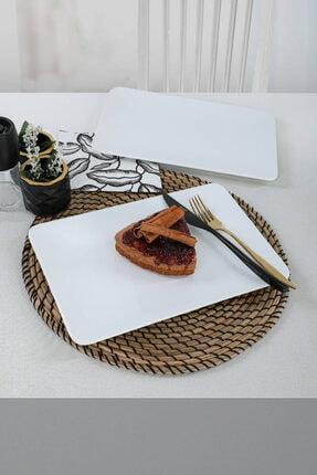 Keramika Beyaz Kayık Tabak 33X21 Cm 2 Adet