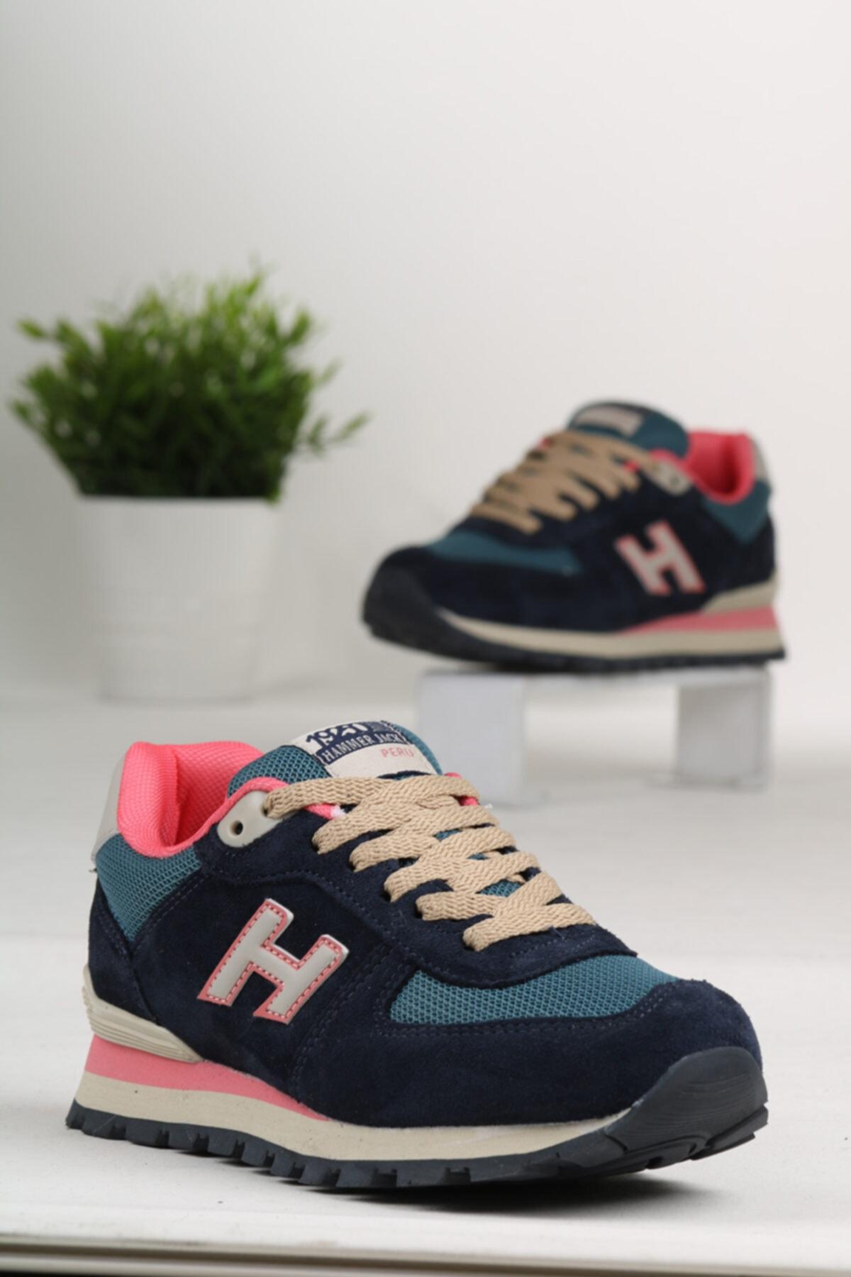 Hammer Jack Unisex Renkli Ferum Hakiki Deri Spor Ayakkabı 1
