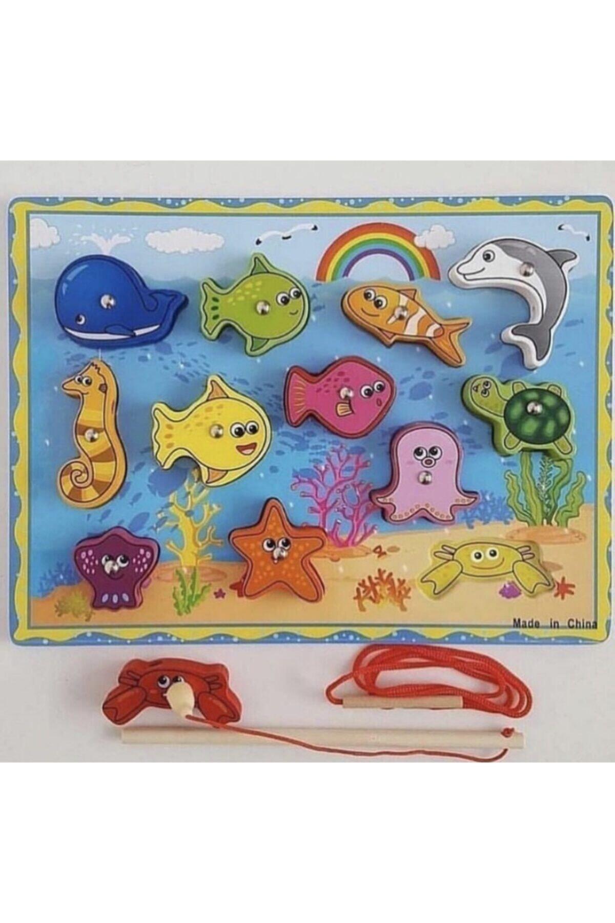 inkwell Ahşap Mıknatıslı Balık Tutma Oyunu 1