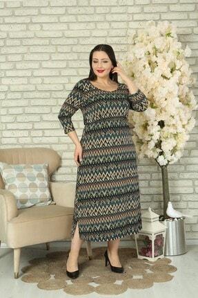 XL Modam Kadın Büyük Beden Likralı Elbise