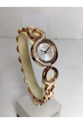 Hislon Rose Gold Kadın Kol Saati Künye Tasarım