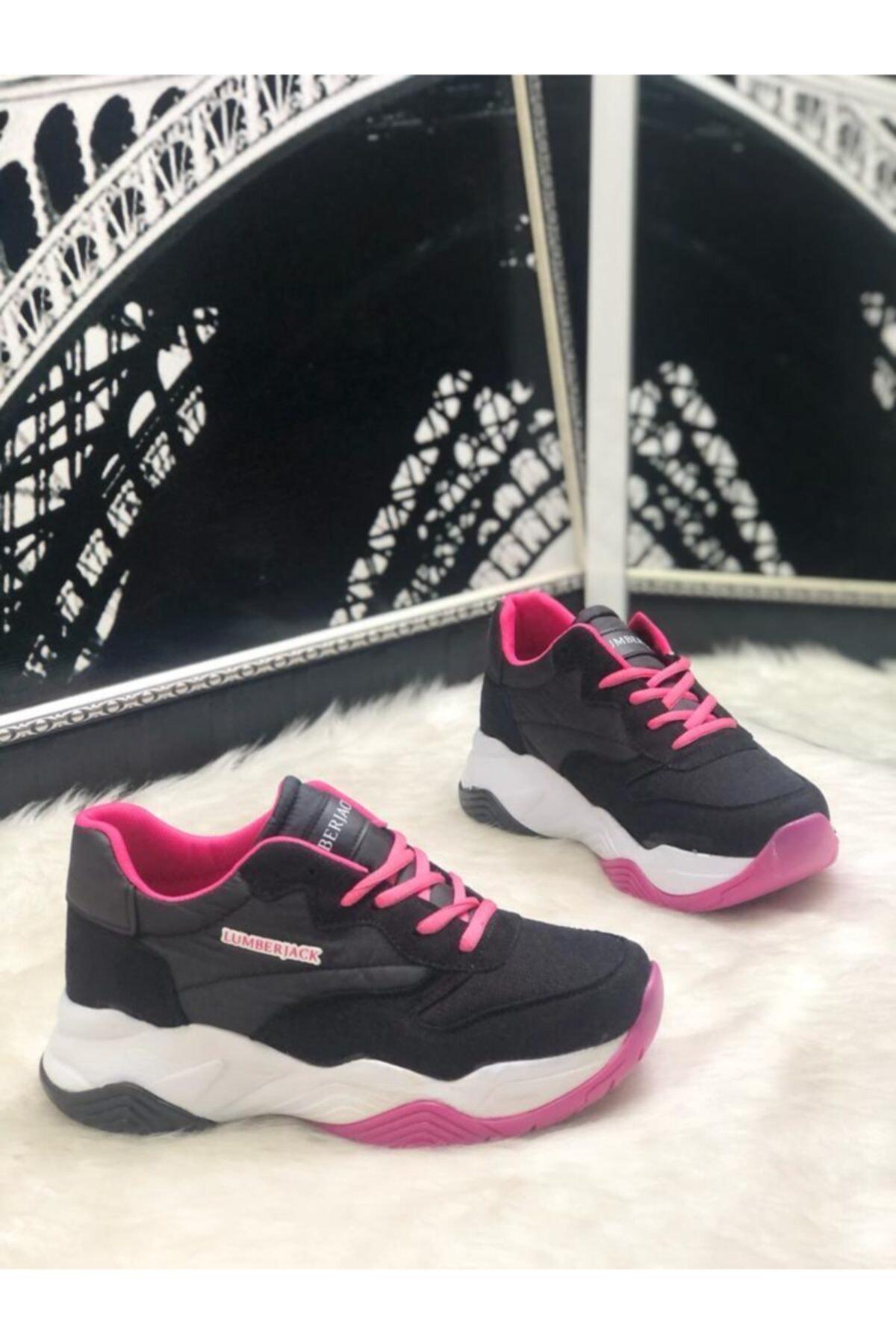 lumberjack Ecık Siyah Kalın Taban Kadın Sneaker Ayakkabı 2