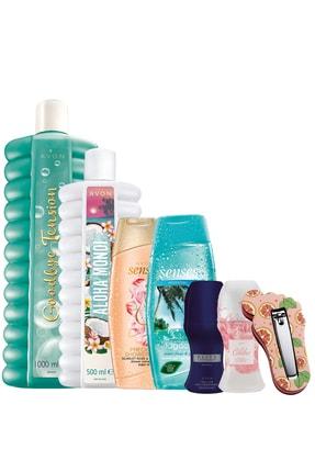 AVON Banyo Köpüğü Duş Jeli Rollon Ve Törpülü Tırnak Makası Banyo Paketi