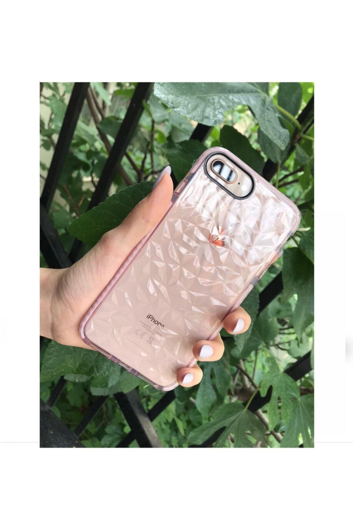 Kılıfsiparis Iphone 7 Plus / 8 Plus Uyumlu Pembe Renkli Darbe Önleyici Silikon Kılıf 1