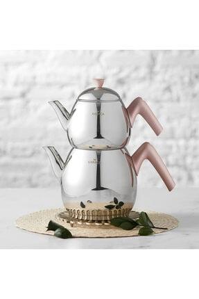 Karaca Merkür Large Rose Çaydanlık Takımı