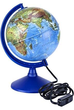 Brons Dünya Küre Işıklı 30 Cm Siyasi-fiziki Br-808