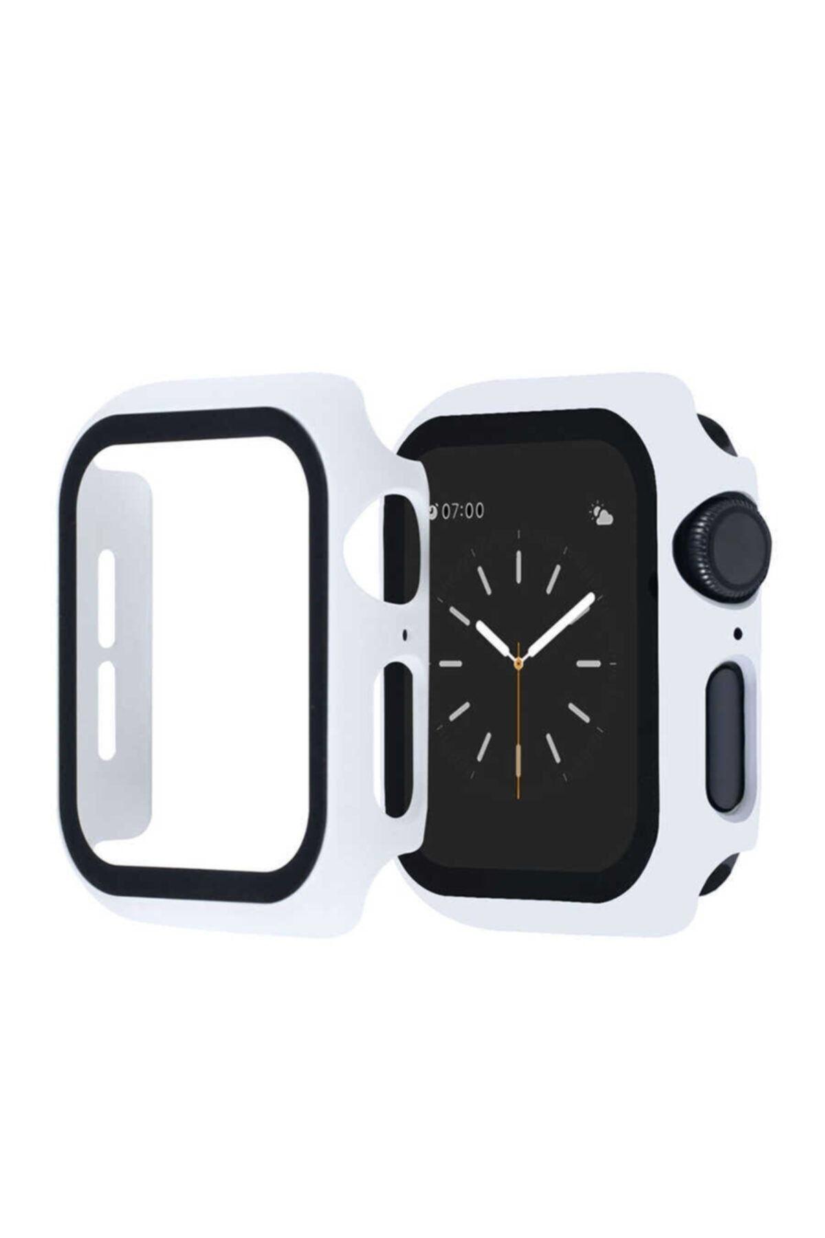 KVK PRİVACY Apple Watch Beyaz Uyumlu Silikon Kılıf 42mm 1