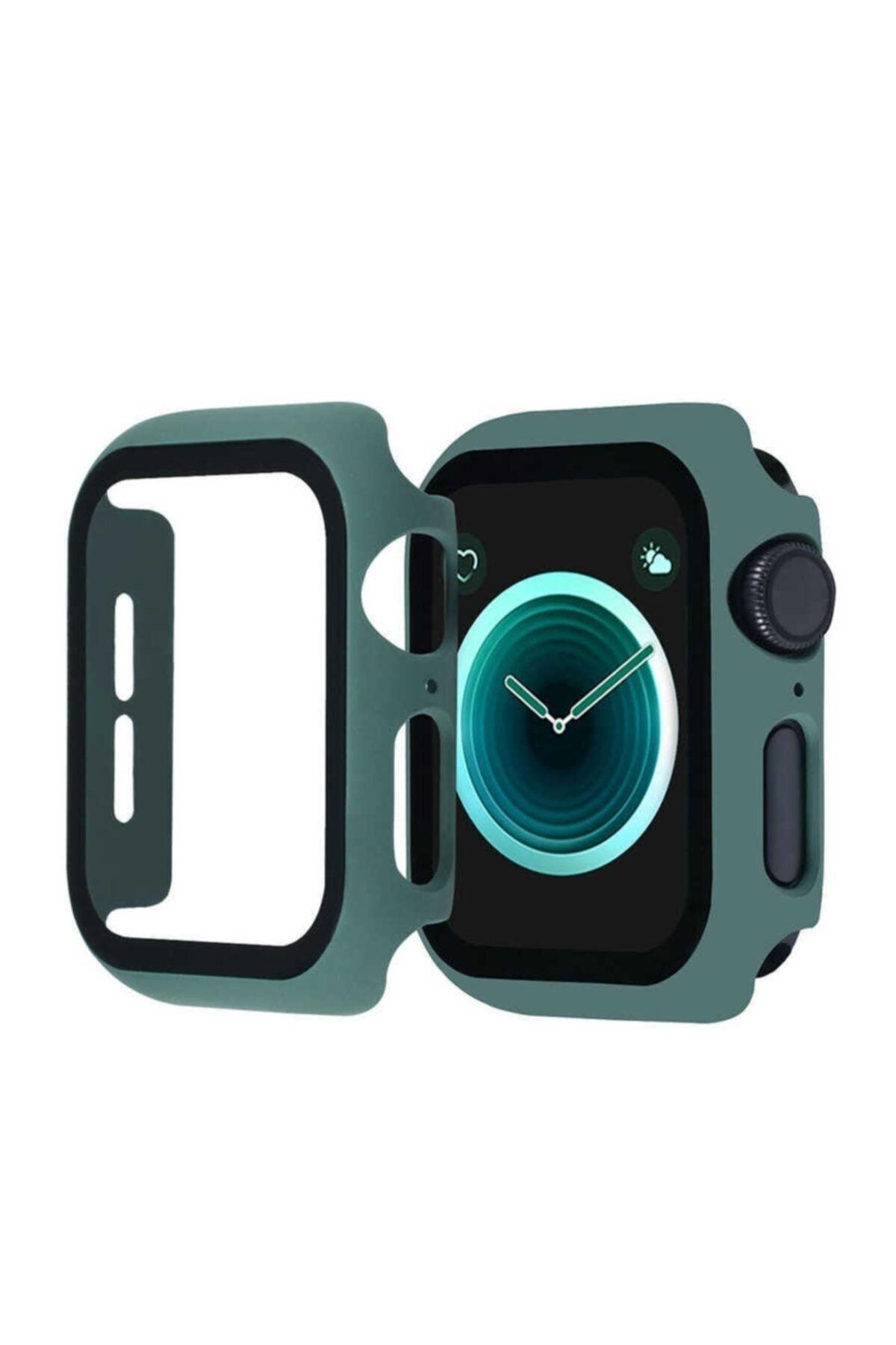 KVK PRİVACY Apple Watch Çam Yeşili Uyumlu Silikon Kılıf 42mm 1