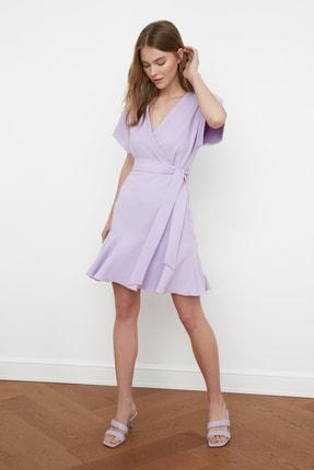 TRENDYOLMİLLA Lila Kuşaklı Elbise TWOSS20EL0944