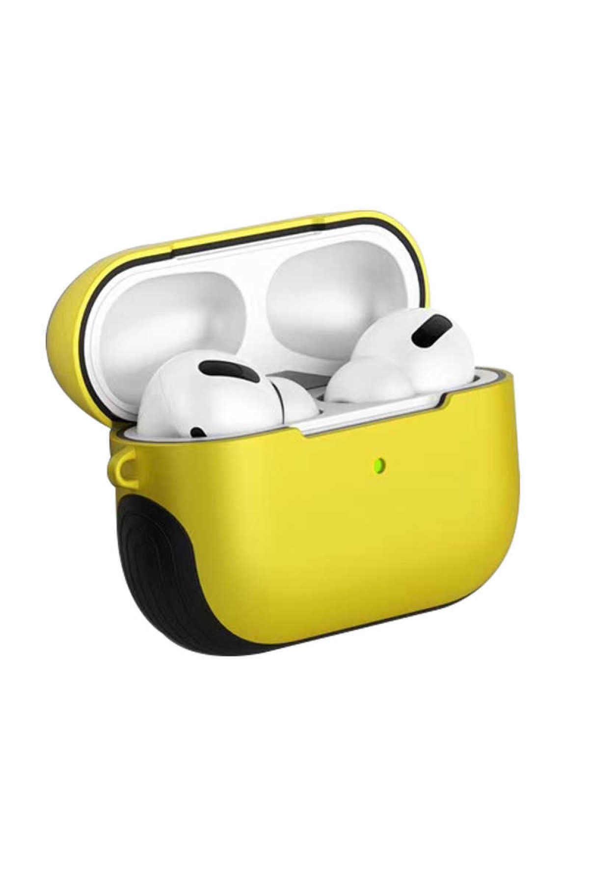 zore Sarı Airpods 1 Nesil Uyumlu Shock Proff Silikon Kılıf 1