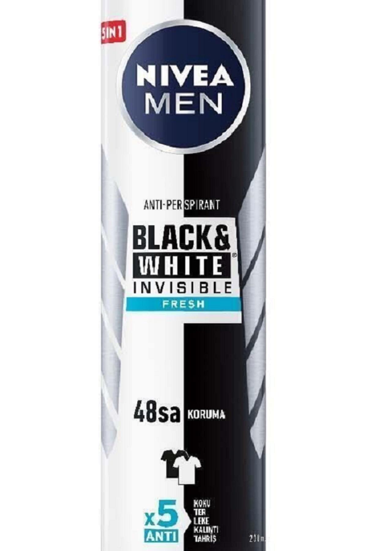 Nivea Men Black & White Invisible Fresh 200 ml Erkek Deodorant 2 Adet 2