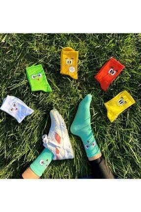 FUBA Aksesuar Unisex 6 Renkli Desenli Çorap Seti