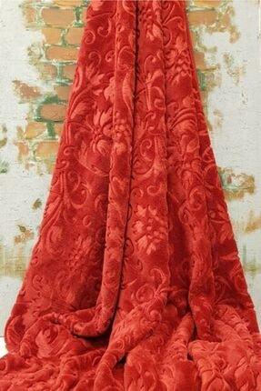 Merinos Kırmızı Desenli Elegans Çift Kişilik Battaniye