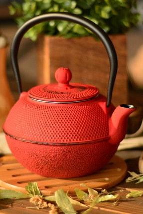 Taşev Linden Menekşe 1200 ml Kırmızı Döküm Çaydanlık T2767