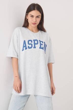 Addax Yazı Detaylı T-shirt P1031 - W8