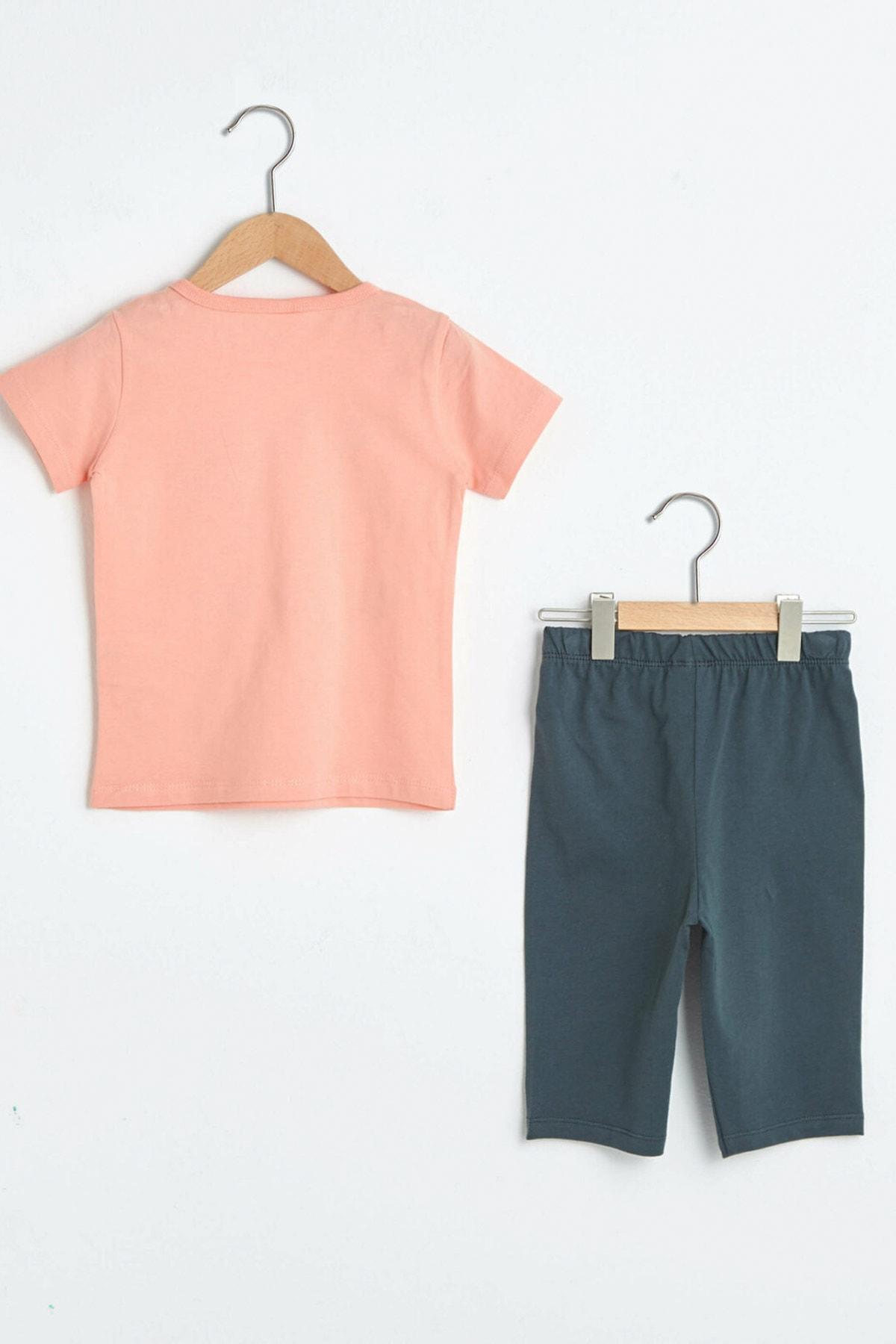 LC Waikiki Erkek Bebek Uçuk Mercan R52 Pijama Takımı 2