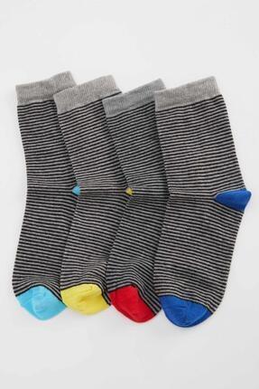 DeFacto Erkek Çocuk Çizgi Desenli 4'lü Soket Çorap