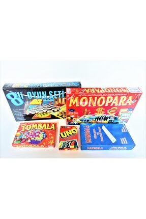 ibis oyuncak Monopara + 8'li Oyun Seti + Tombala + Mangala + Uno 5'li Kutulu Oyun Seti
