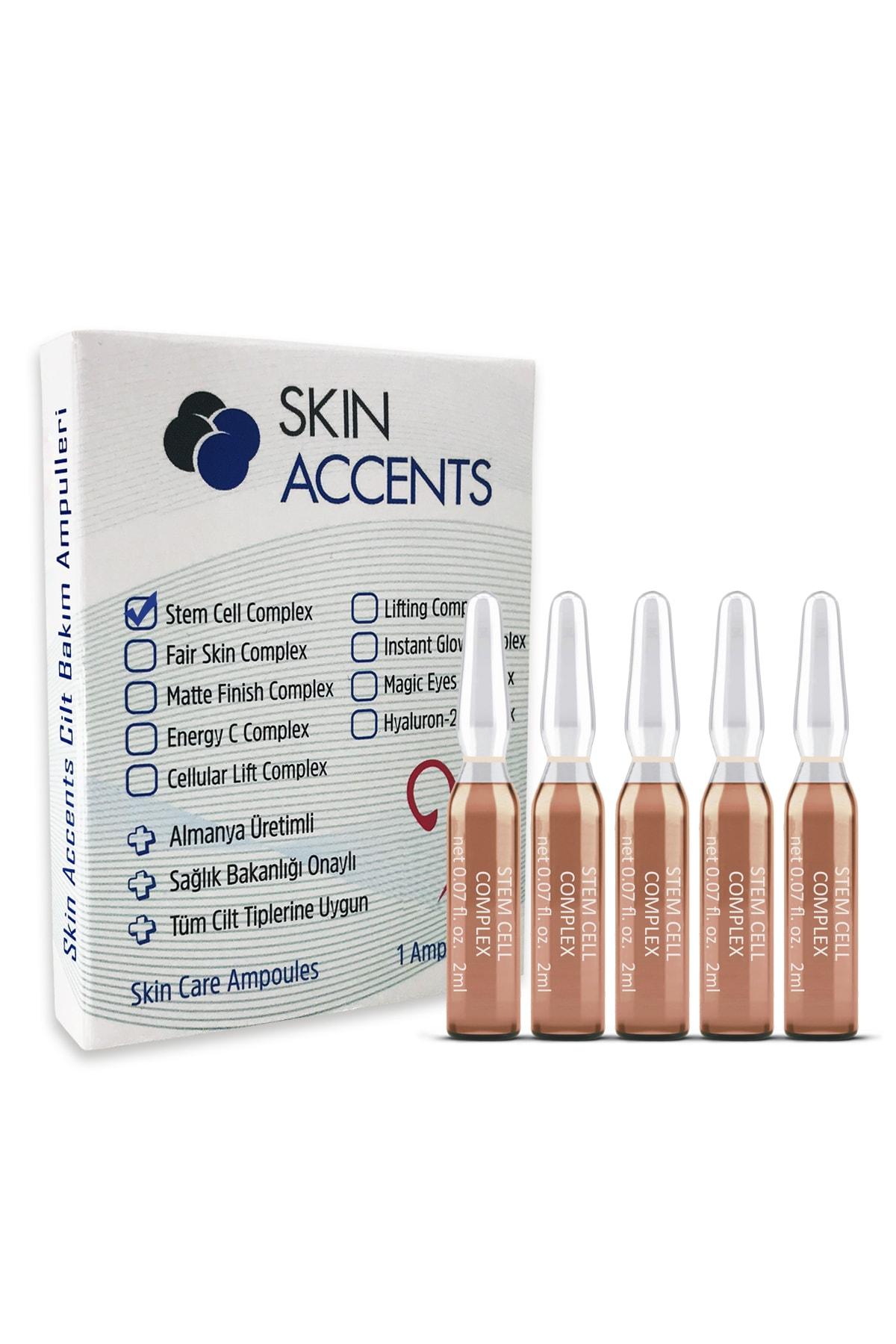 Skin Accents 5 Adet Kök Hücre Ampul Alman Serum Dermaroller Dermapen Cilt Bakım Serumu 1