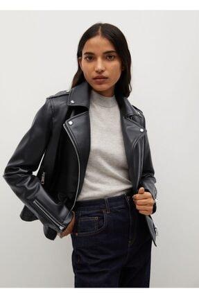 MANGO Woman Motorcu Tarz Fermuarlı Ceket