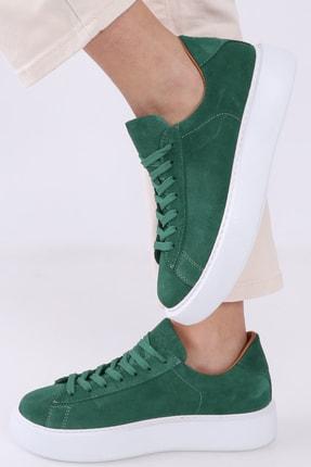 TaximArt Kadın Wish Mint Yeşili Süet Deri Spor Ayakkabı