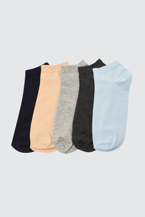 TRENDYOL MAN Çok Renkli Erkek 5'li Paket Soket  Çorap TMNSS21CO0108