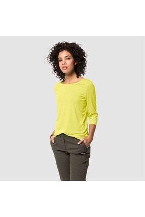 Jack Wolfskin Kadın Sarı Spor Sweatshirt Jwp 3 4 T W
