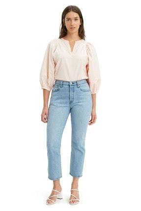 Levi's Kadın Light İndigo Crop Tango Acid Jeans 501