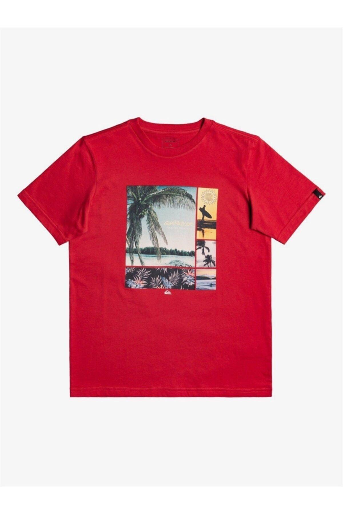 Quiksilver Çocuk Kırmızı Hidden Cove Ss Yth Tişört 1