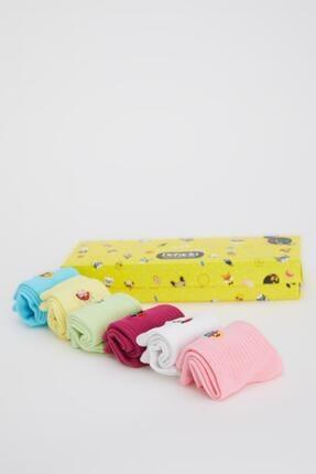 DeFacto Kız Çocuk Desenli Kutulu 6'lı Soket Çorap
