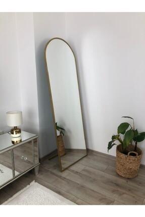 EFFE YAPI DEKOR Gold Metal Çerçeveli Ayaklı 180x60 Cm Boy Aynası