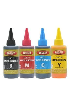 ekoset Epson L382, L386, L455, L486, L550, L565 Için Mürekkep 4 Renk 100 ml